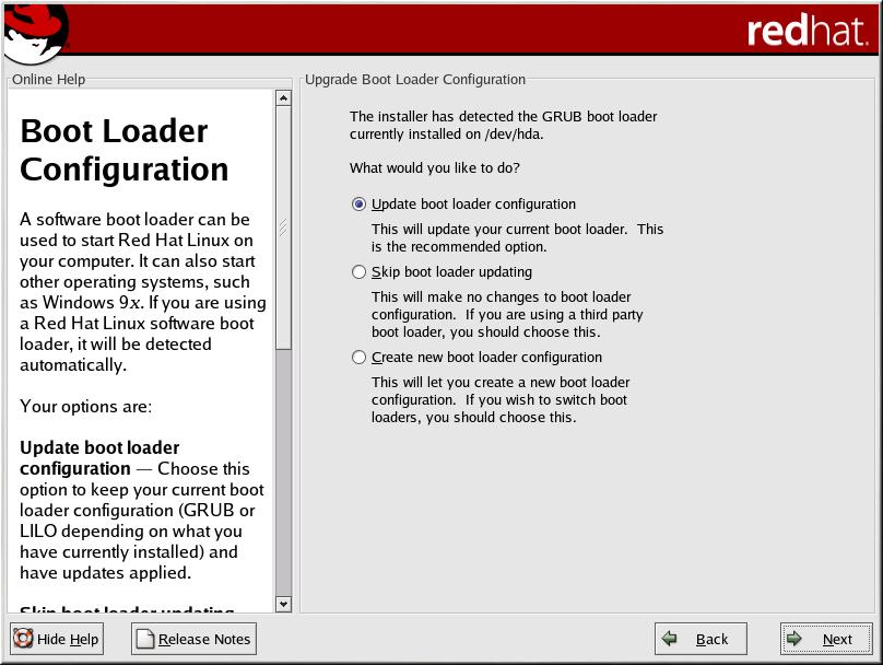 Boot Loader Configuration